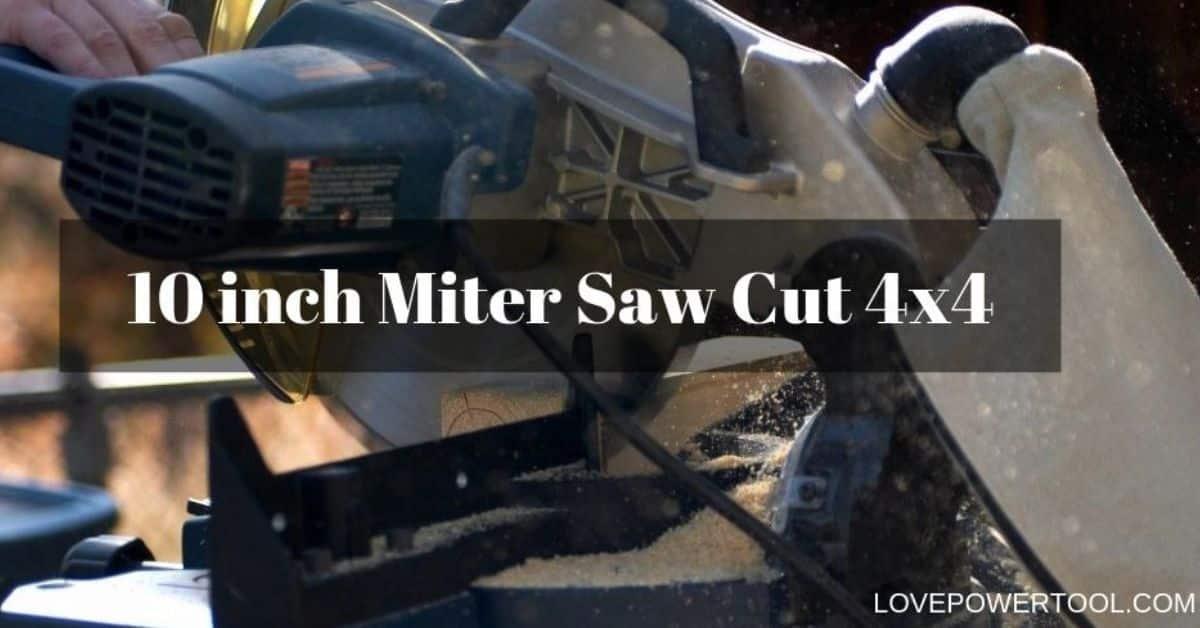 miter saw cut 4x4