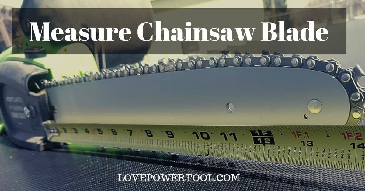 measure chainsaw blade