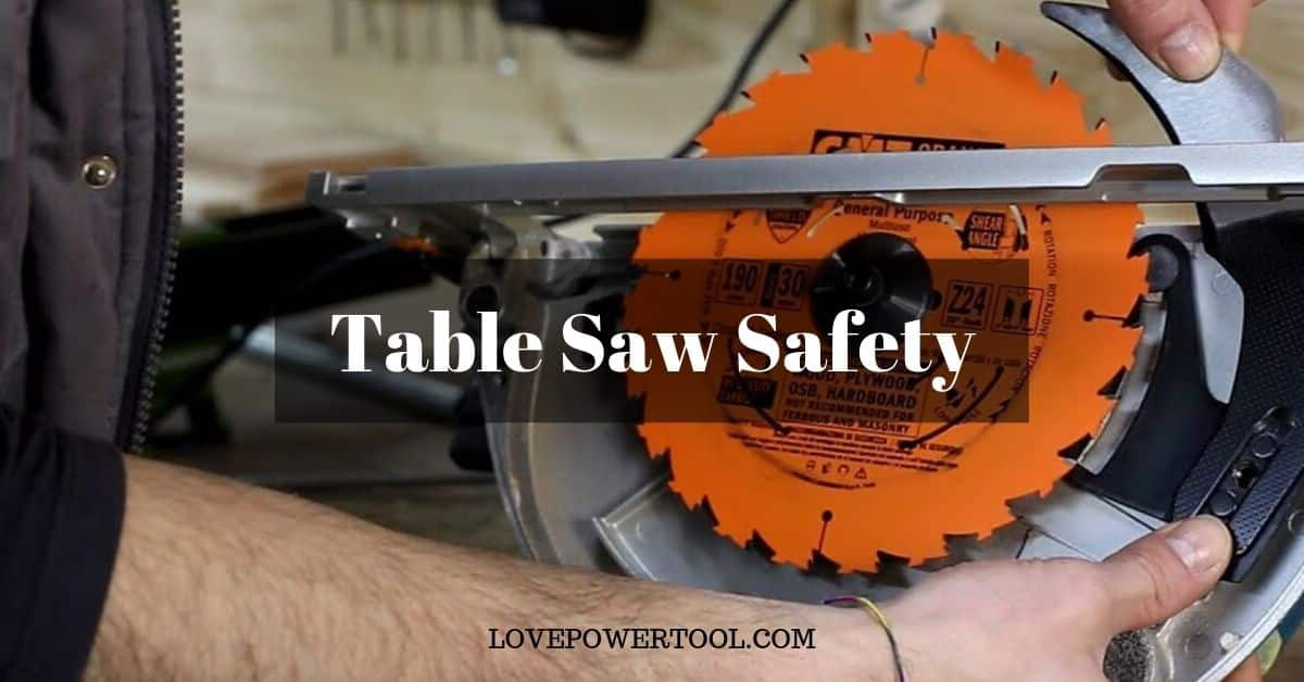 table saw safety tips