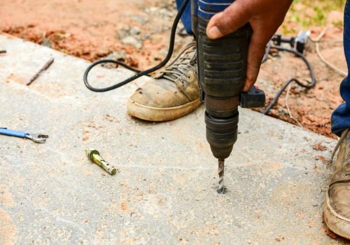 A regular drill is a friendly alternative to a power hammer tool