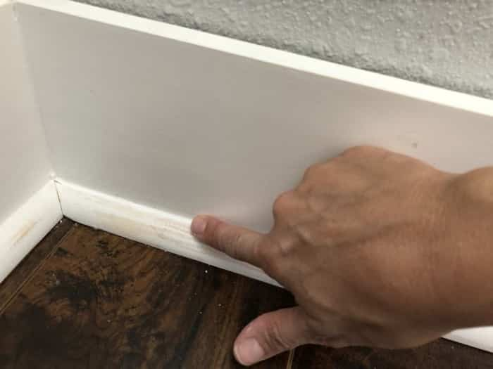 Apply the sealant with your finger